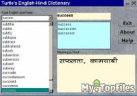 Look at screenshot of English To Hindi Dictionary