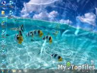 Look at screenshot of Animated Wallpaper - Watery Desktop 3D